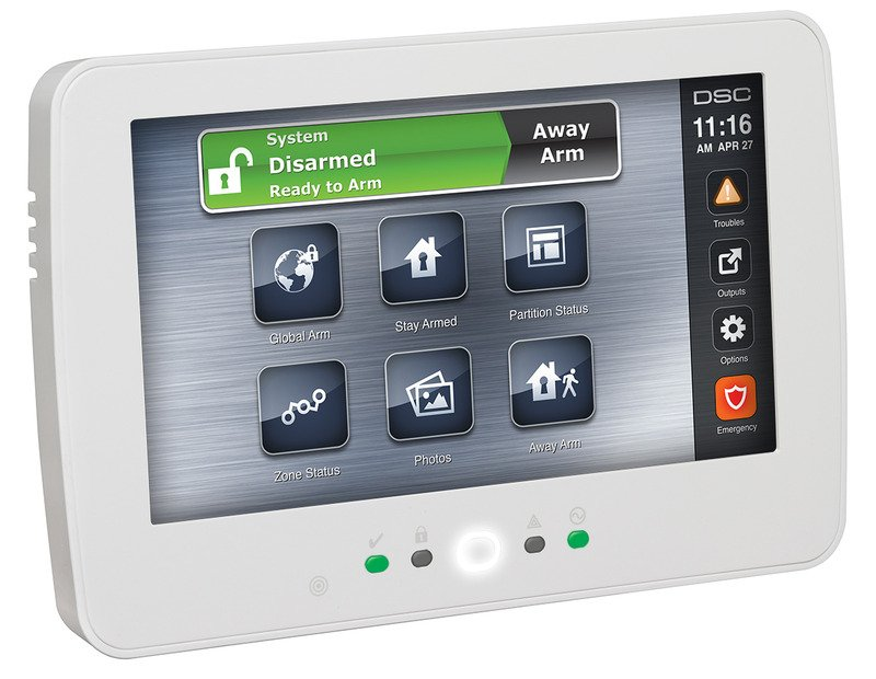 DSC Neo Alarm System Touchscreen Keypad